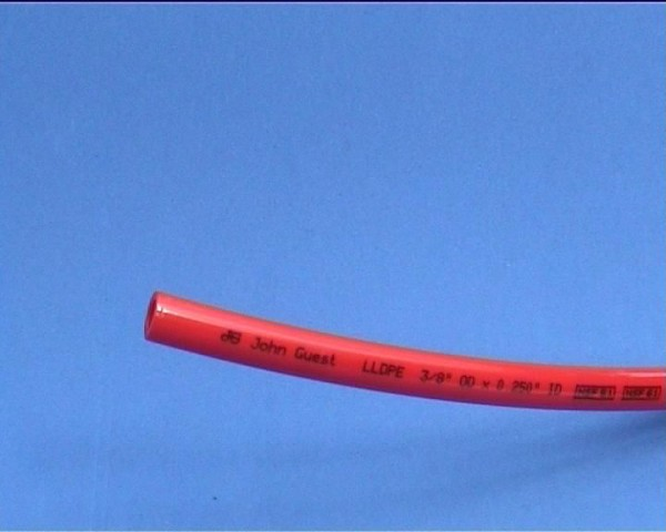 Schlauch LLDPE 3/8 rot